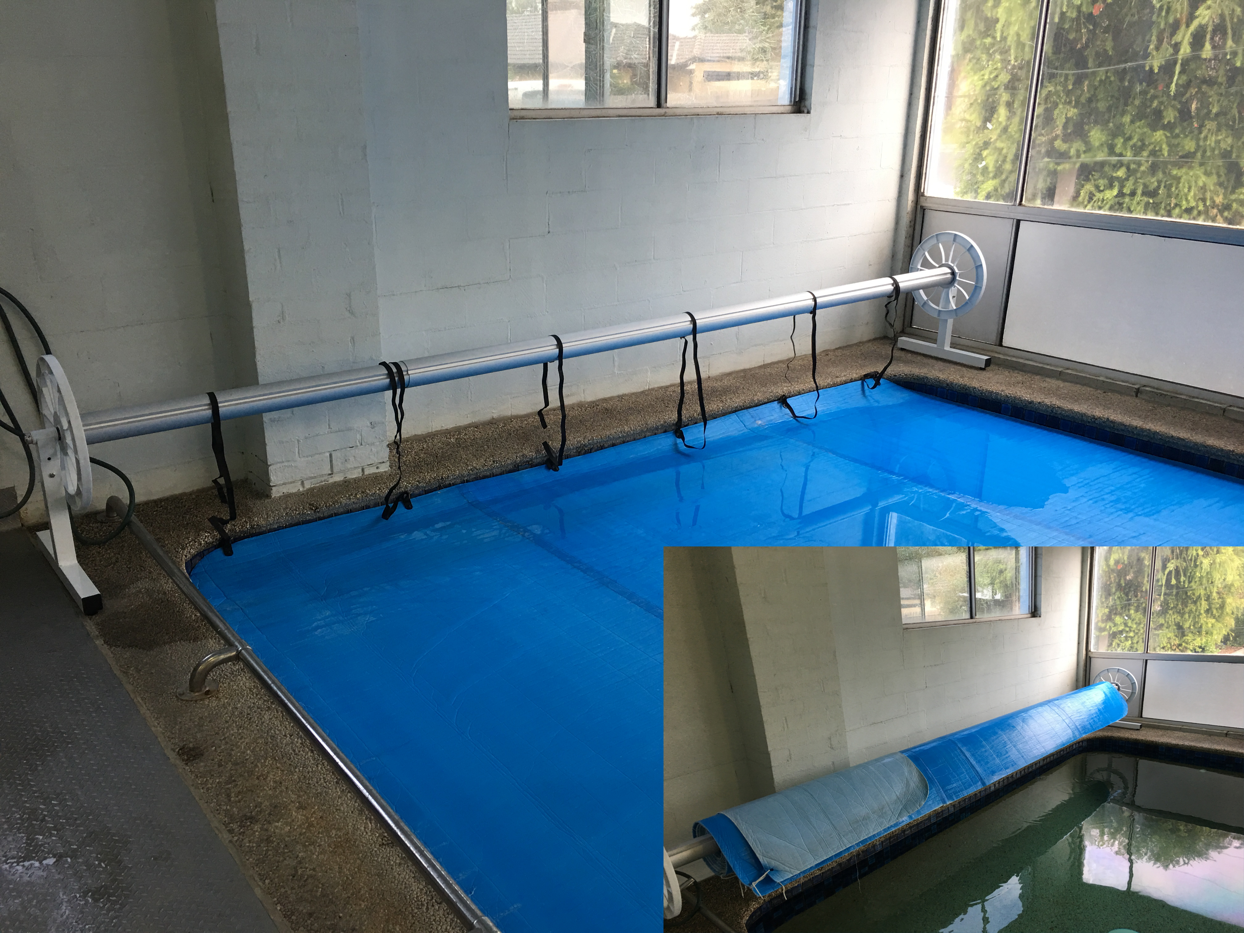 Thermal blanket reel aqua pool covers melbourne australia for Swimming pool covers melbourne